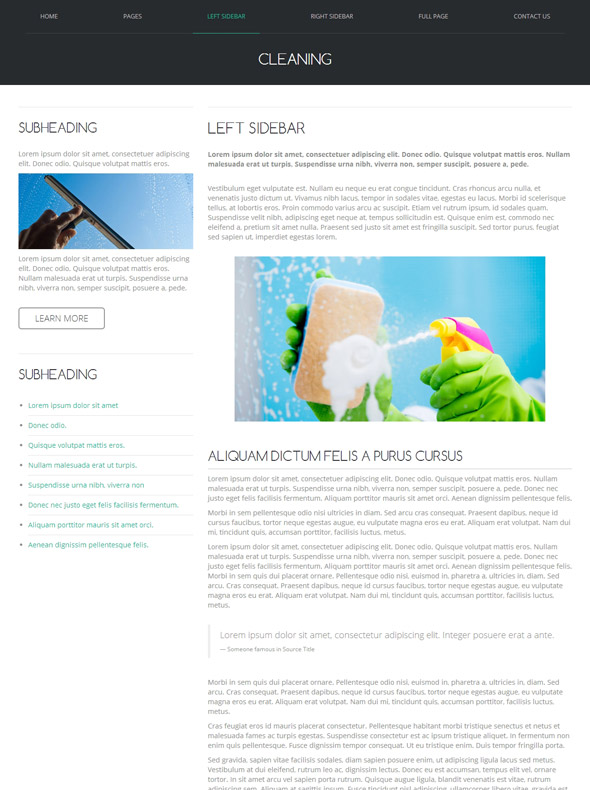 Cleaning Tools HTML Template Cleaning Website