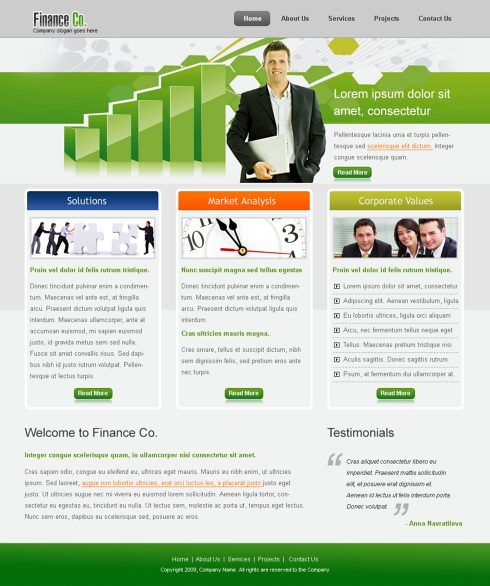 6307 - Finance & Ecommerce - Website Templates - DreamTemplate