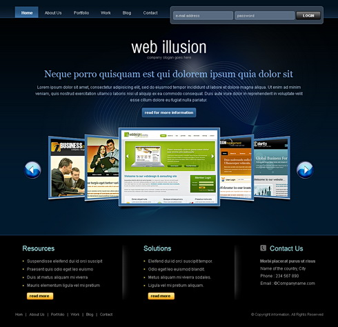 Websites templates design roho4senses websites templates design cheaphphosting Image collections