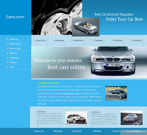 Stylish XHTML Template - 0334 - Cars & Transportation - Website ...