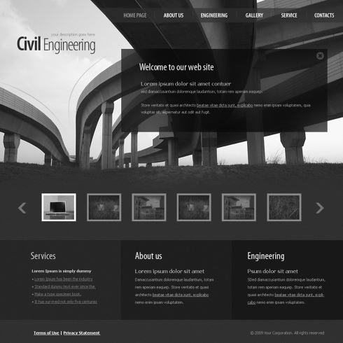 Bridge Html Template 5611 Cars Transportation