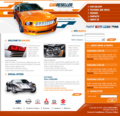 car reseller web template 0620