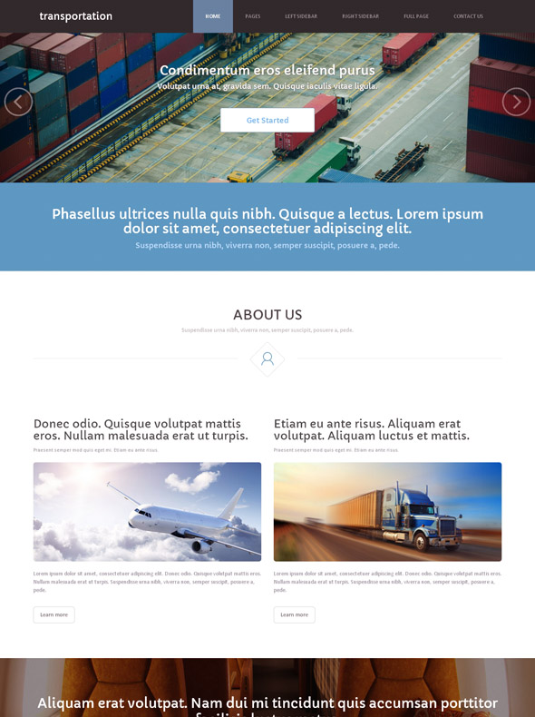Water transportation Site Template - Cars & Transportation - Website