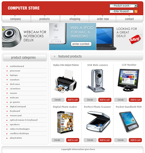 0442 - Shopping - Website Templates - DreamTemplate