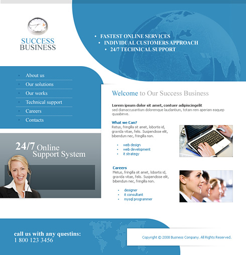 Work group xhtml template 2997 clean corporate website work group xhtml template 2997 maxwellsz
