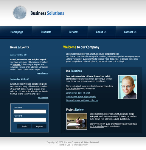 Business Solutions Website Template - 3178 - Clean & Corporate ...