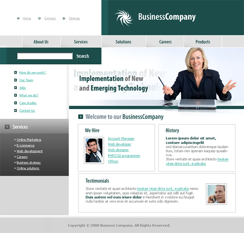 Business Company Web Template - 3221 - Clean & Corporate - Website ...
