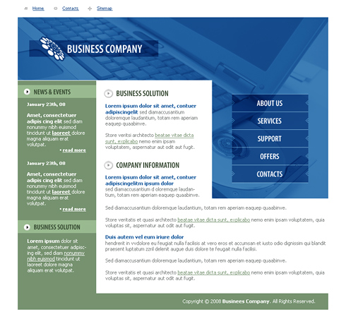business career website template 3286 clean corporate