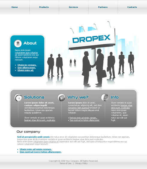Dropex HTML Template - 3638 - Clean & Corporate - Website ...