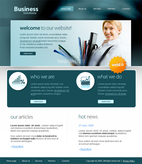 Business Trade Web Template - 3647 - Clean & Corporate - Website ...