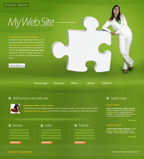 my personal website template 4271