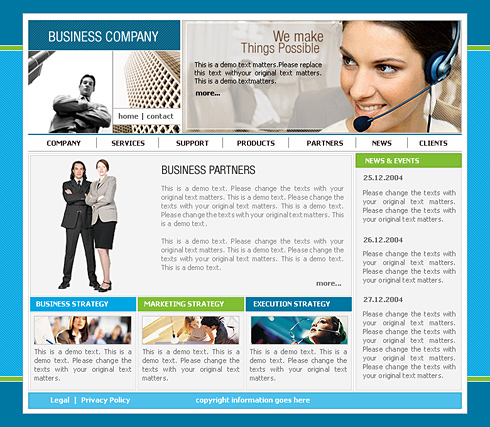 Call Center Web Template - 0401 - Clean & Corporate - Website ...