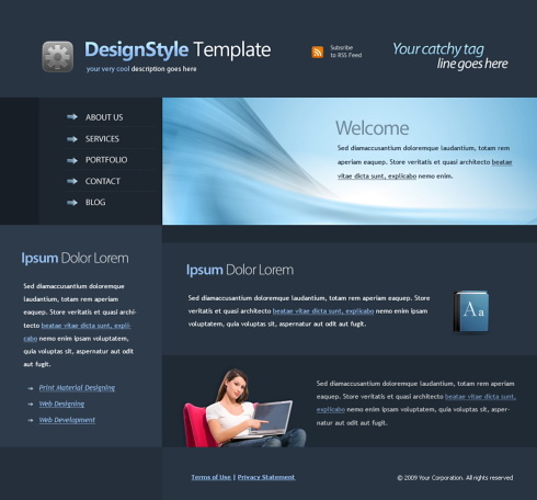 professional web template 4418 clean corporate website