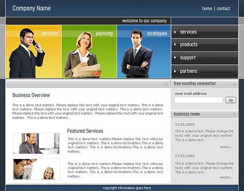 Corporate Pro Web Template - 0411 - Clean & Corporate - Website ...