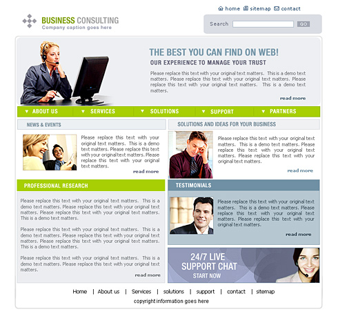 business consulting website template 0444 clean corporate