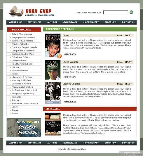 Online Shop Website Template: Online Shopping Web Template