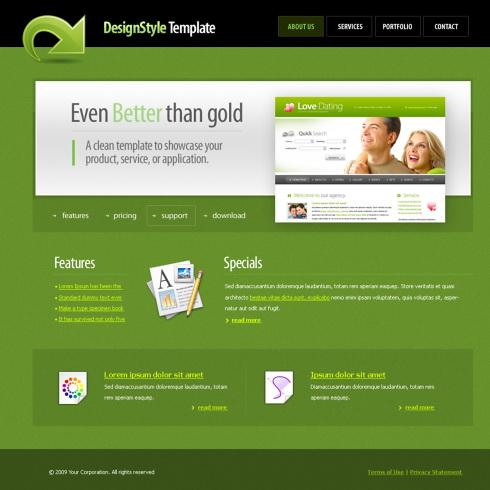 Simplistic Webpage Template - 5501 - Clean & Corporate - Website ...