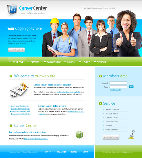 Business center web template 6165 clean corporate website business center web template 6165 accmission Choice Image