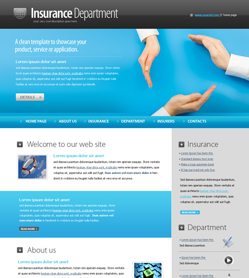 Insurance company bootstrap template id: 300111791 from.