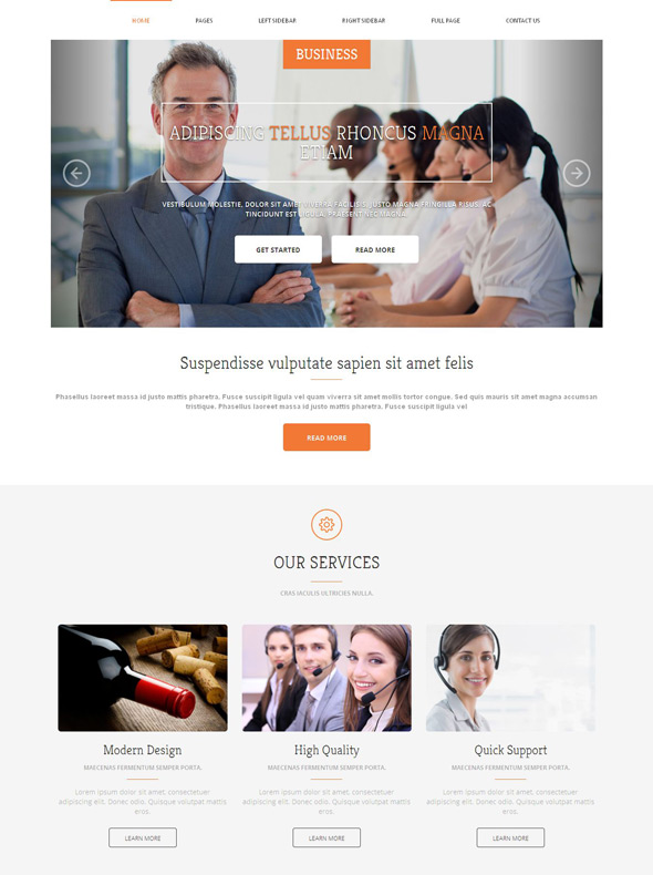 business management website template business website templates