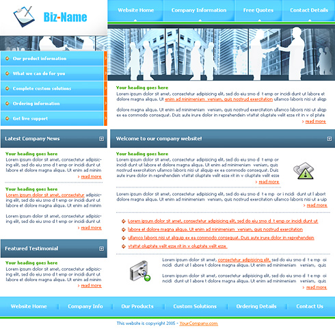 Product Search Css Template 0128 Business Website