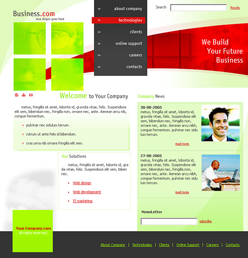 Business Profile XHTML Template 0146 Business Website – Template for Business Profile