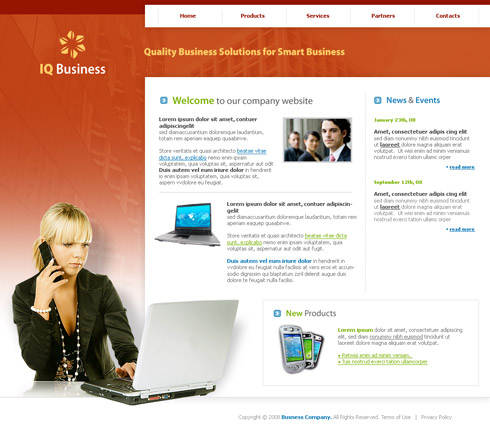Chat CSS Template - 2989 - Business - Website Templates - DreamTemplate