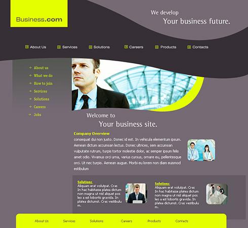 Business Man Web Template - 0271 - Business - Website Templates ...