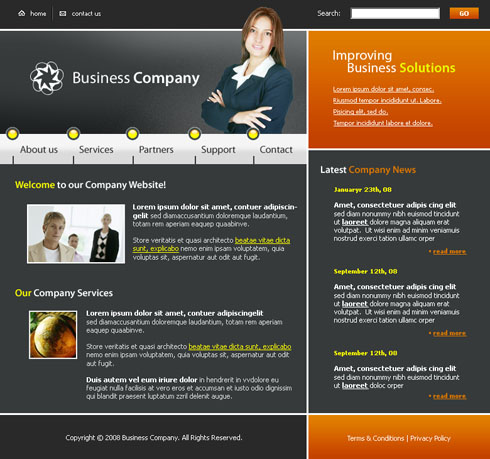 Survey Web Template - 3055 - Business - Website Templates