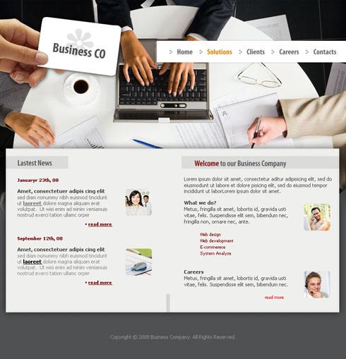 Graphs Website Template Business Website Templates - Web development company website template