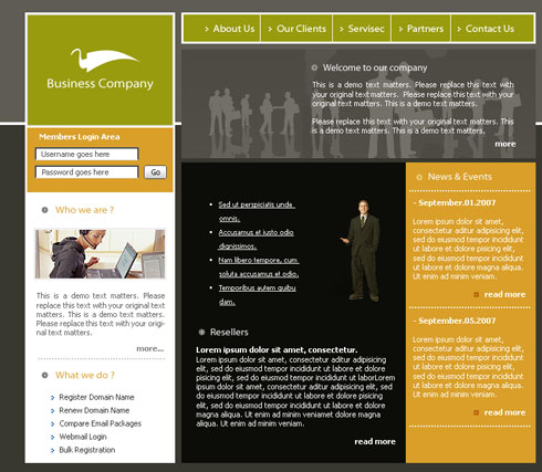 business consulting web template 3118 business website