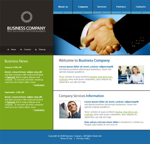Communications webpage template 3156 business Website home image