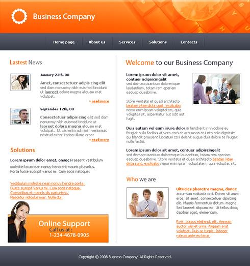 Good Decision Website Template - 3160 - Business - Website Templates ...