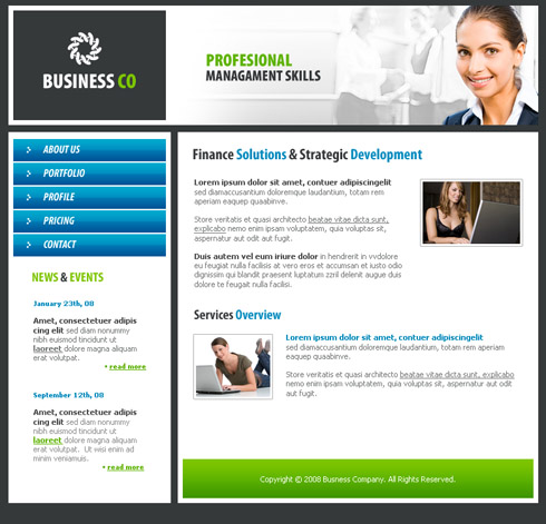 business network website template 3187 business website