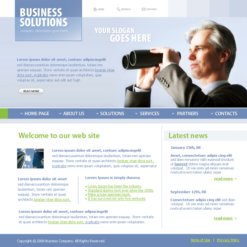 Business Focus Web Template - 3685 - Business - Website Templates ...