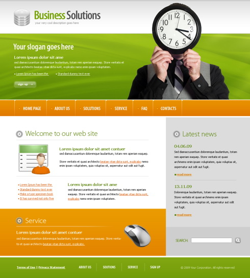 Advertising CSS Template - 5613 - Business - Website Templates ...