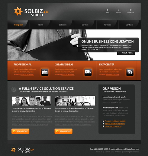 Corporate Communications Website Template - 5645 - Business ...