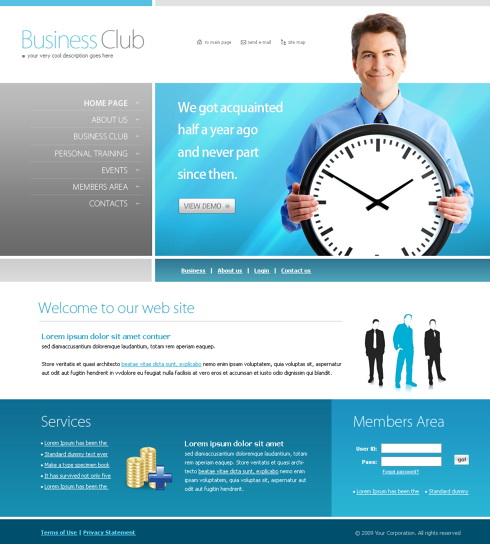 Timings Website Template - 5951 - Business - Website Templates ...