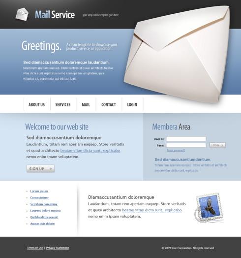 Corporate Message CSS Template Business Website Templates - Web development company templates