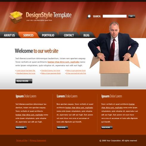 Packaging Web Template