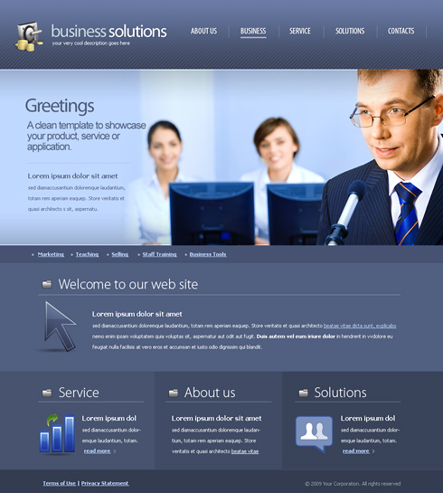 Decision Making Web Template   6172   Business   Website Templates