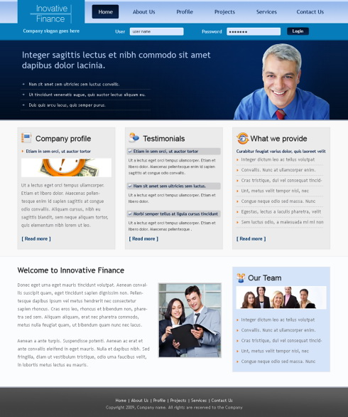 Modern business html template 6316 business website templates modern business html template 6316 cheaphphosting Images