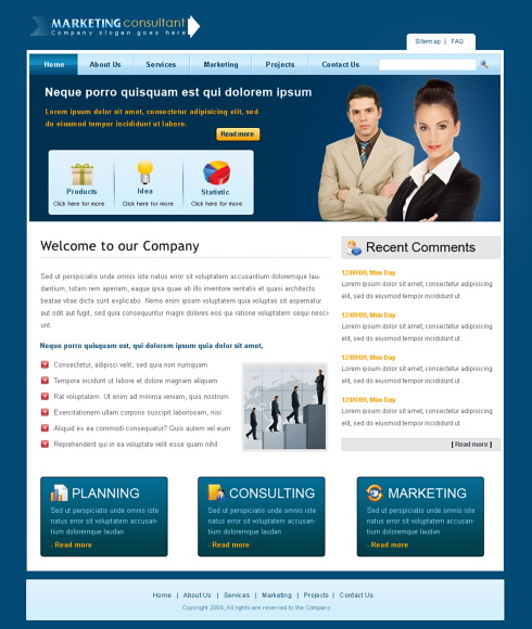 Professional Web Template   6378   Business   Website Templates