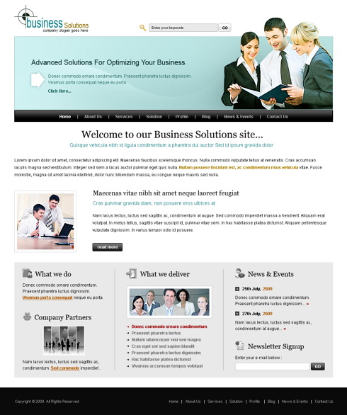 team meet html template 6437 business website templates
