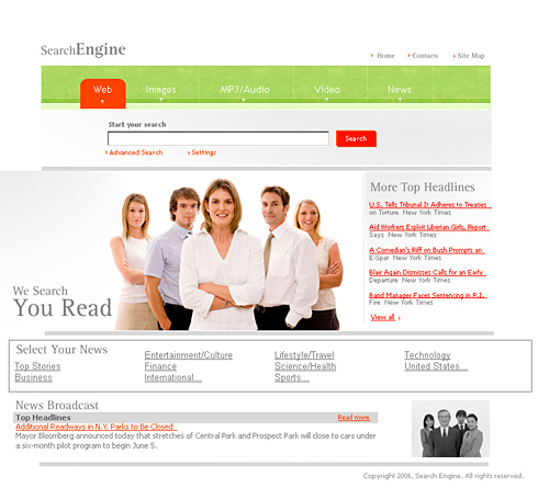 Search Engine HTML Template - 0986 - Business - Website Templates ...