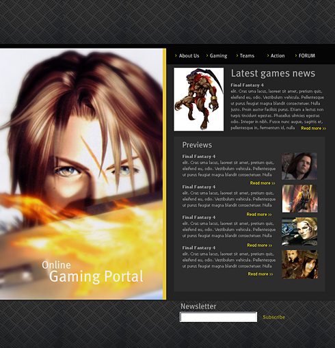 Online Games HTML Template - 0548 - Games & Fun - Website Templates ...