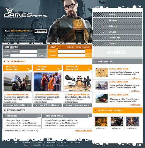Game Point Web Template - 0583 - Games & Fun - Website Templates ...
