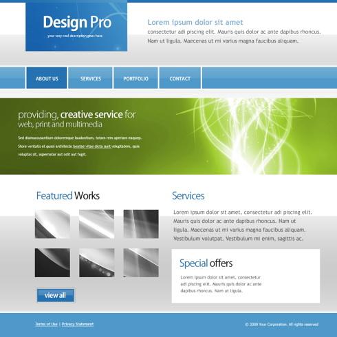 5512 - Web 2.0 Style - Website Templates - DreamTemplate