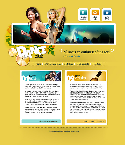 Party Forum Web Template - 2420 - Entertainment & Media
