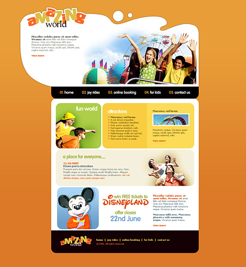 Excitement XHTML Template - 2427 - Entertainment & Media - Website ...